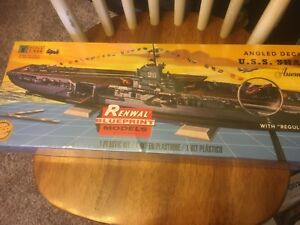 Renwal 1:500 Angled Deck Carrier USS Shangri-La Plastic Model Kit SEALED INCELLO