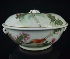 FINE CHINESE FAMILLE ROSE PORCELAIN POT WITH LID (K583)