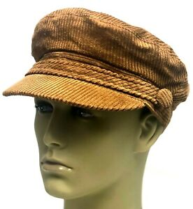 Fiddler Breton Cap Hat Cord Brown Greek Fisherman Sailor Barge Mens Ladies Kids