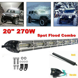 "20"" 270w Single Row LED Work Light Spot Flood Combo Offroad Driving Fog Light"