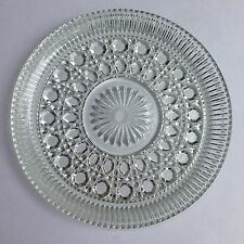 Vintage Round Clear Pressed Glass Serving Tray Plate XXXXXXXXXXXXXXXXX