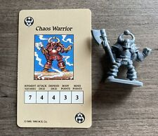Heroquest Game Parts Chaos Warrior Figure & Card