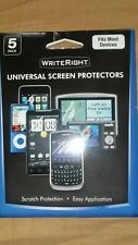 """Fellowes crc92062 WriteRight Universal Screen Protectors - 5 Pack Retail 3-4.5"""""""