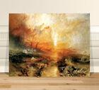 "Stunning Baroque Fine Art ~ CANVAS PRINT 8x10"" ~ Slaver's Ship Sea by Turner"