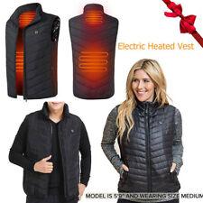 Men USB Electric Vest Heated Jacket Warm Heating Pad Winter Body Warmer S-3XL US