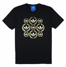 Adidas Originals Men's L Large Laurel Wreaths Black & Gold Limited Quantity!