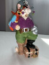 Whimsiclay Amy Lacombe  Captain crossbones #13056 Nautical Pirate Cat