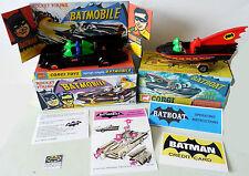 Batman Diecast AZRAK-HAMWAY BATMOBILE BATBOAT on Corgi 107 Trailer 267 Repro Box