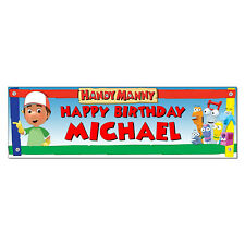 Personalized & Custom Printed Handy Manny Birthday Banner Poster Decoration