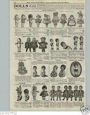 1920 PAPER AD Vintage Dolls Rose O'Neill Kewpie Baseball Cards Sheet Pitching
