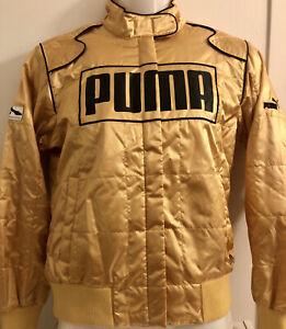 Puma Motorsport Gold F1 Racing Jacket Women's Size US Medium / UK 12