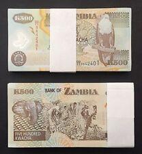 FULL PACK of 100 CONSECUTIVE 500 KWACHA PICK # 43e ZAMBIA POLYMER NOTES of  2006
