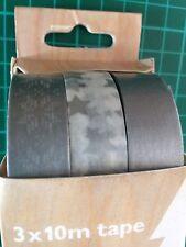 JOHN LEWIS 3 x 10m Washi Tape Silver White 30m pack Star Snowflake sticky gift