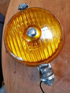 """Vintage WIPAC 5""""  Fog Lamp w/ Fluted Amber Lens"""