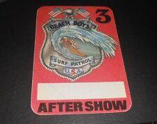 Vintage Beach Boys After Show Pass Surf Patrol Usa
