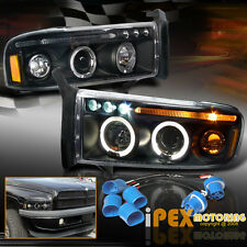 "1997-2001 Dodge RAM ""1500 / 2500 SPORT"" Halo Projector LED Headlights Black"
