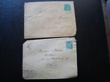 FRANCE - 2 enveloppes 1902/18?? (timbre yvert et tellier n° 75 tout etat) (B16)