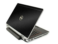 BLACK BRUSHED TEXTURED Vinyl Lid Skin Cover fits Dell Latitude E6320 Laptop