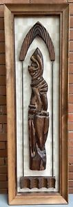 Cool Vintage 60s 70s WITCO Knight Abstract Wood Wall Hanging Mid Century Modern