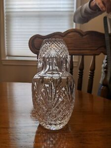 Waterford Crystal Bedside Carafe With Tumbler, Height 7.5 in