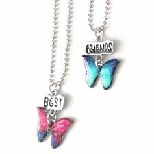 Drops of Oil Style Children 2pcs a Set Baby Butterfly Necklace Best Friend