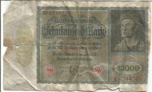 German bank note 1922 -- 10000 Marks!