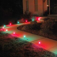 Christmas Pathway Lights Outdoor Decoration C7 Bulbs 30 Ft. Driveway Walkway