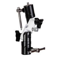 Flash Hot Shoe Umbrella Holder Mount w/Swivel Bracket U shape for Speedlight CO