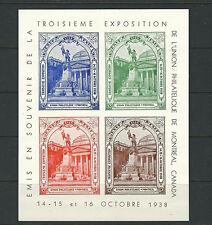 CANADA 1938 MONTREAL 3rd EXPO XF MNH condition *CINDERELLA*