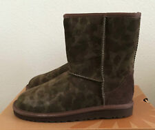 Girls Kids Youth Size 4 Brown UGG Classic Short Camo Winter Boots Fit Women Sz 6