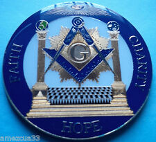 Freemasonry Blue Lodge Freemason F.H.C  Master Mason High Quality Car Emblem