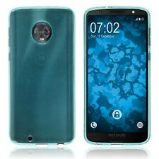 Silicone Case for Lenovo Moto G6 transparent turquoise Case
