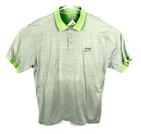 Sony Open Mens Large Polo Shirt Rugby Golf Striped Green Cotton Striped