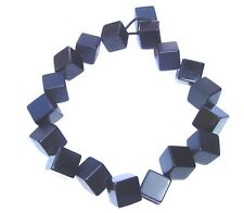 SOBRAL black large cube 21 1/2 inches long from end to end of necklace
