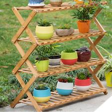 Flower Pot Plant Stand 4 Tier Flower Planter Rack Shelf Shelves Organizer Garden