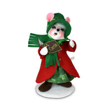 Annalee Dolls 2021 Christmas 6in Evergreen Caroler Girl Mouse Plush New with Tag