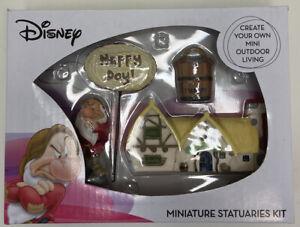 Fairy Garden Set Grumpy Seven Dwarfs House Miniature Statuaries Kit