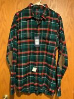 """Polo Ralph Lauren Green/Red/White/Yellow """"Holiday"""" Plaid Flannel-L-NWT-Ret $198"""