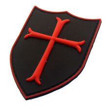 Knights Templar Cross Shield Military USA ARMY MORALE BADGE PVC RUBBER PATCH *02