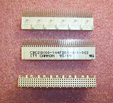 QTY (7)  CBC20X00-144FDS1-0-1-002 ITT CANNON 144 POSITION (36x4) R/A RECEPTACLE