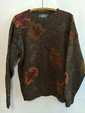 Woolrich Vintage Wool Sweater Fall Autumn Leaves Thanksgiving