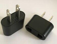 2 x EU To US Plug Adapter Travel Adapter Converter
