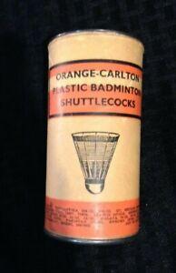 Vintage Orange Carlton Shuttlecocks Badminton Birdies Made England NIB