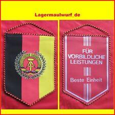 NVA banderín RDA banderín ostalgie museo decorativas uniformes lema fiesta coleccionar FDJ sed