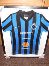 Club Brugge Football Shirt (Framed)