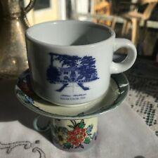 Vintage Hotel Demitasse Coffee Cup BLUE WILLOW Inn Hotel Social Circle Georgia