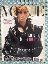 VOGUE PARIS French n°829 Août 2002 Cindy Crawford Alexander McQueen Mode