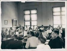 1954 Courtroom Scene Russell Co Jury Crime Investigation Alabama Press Photo