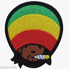 Rasta Reggae Jamaica Marley Africa Hemp Weed Peace Hippie Iron on Patches #1387