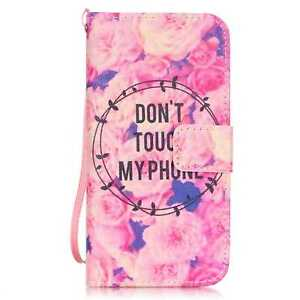 For iPhone 5/6/7/8/X Samsung Magnetic Fashion Flip Wallet Pattern  Leather Cover